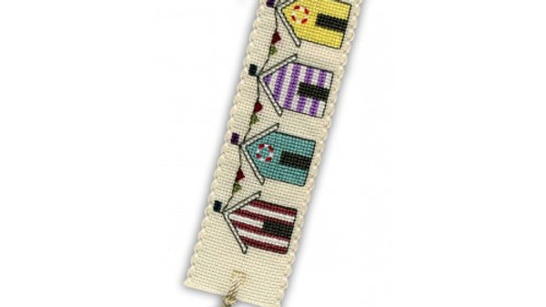 Textile Heritage Cross Stitch Bookmark Kit -Beach Huts