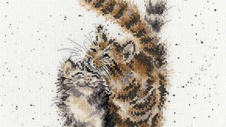 "Bothy Threads Cross Stich Kit ""Feline Good"" design by Wrendale"