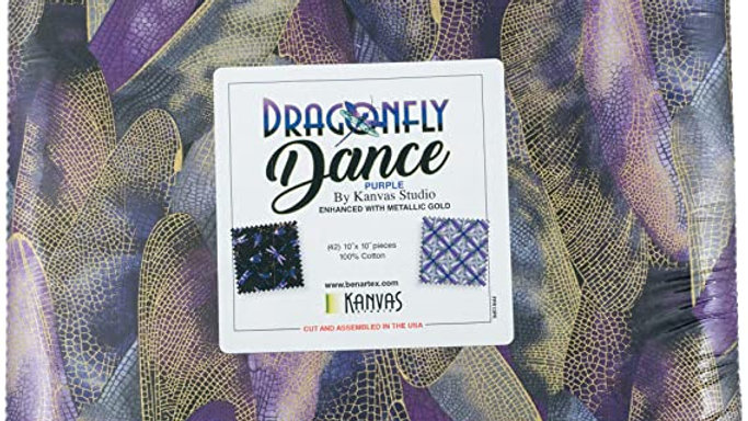 """Dragonfly Dance 10 x10"""" Layer Cake"""