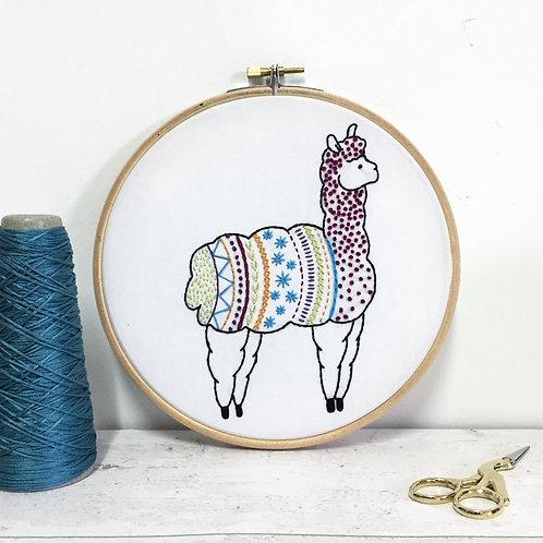 Contemporary Alpaca Embroidery Kit