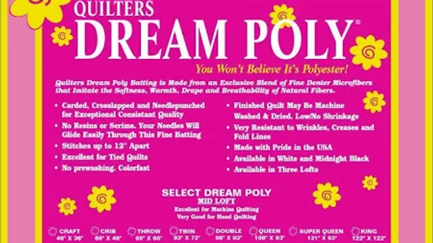 "Quilter's Dream Poly Wadding Twin 93"" x 72"""