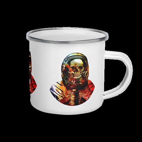 Astronaut Skull Enamel Camping Mug