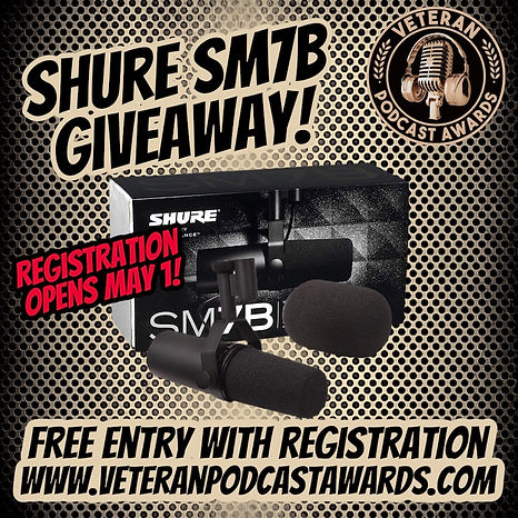Shure SM7B giveaway