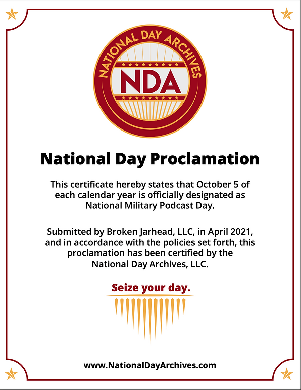 National Military Podcast Day Proclamati