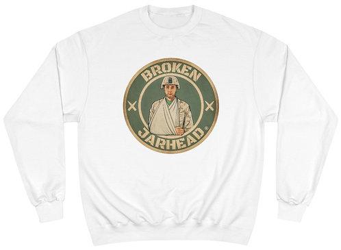 Broken Jarhead® Authentic Green & Tan Champion® Sweatshirt