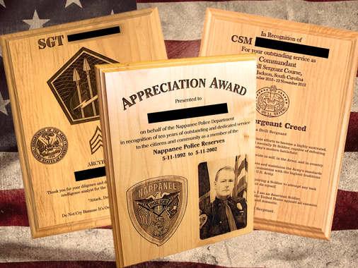 Shop custom engraved wooden plaques