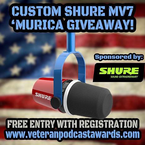 Custom Shure MV7 Giveaway
