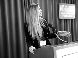 Anna speaking at The National Press Club in D.C.