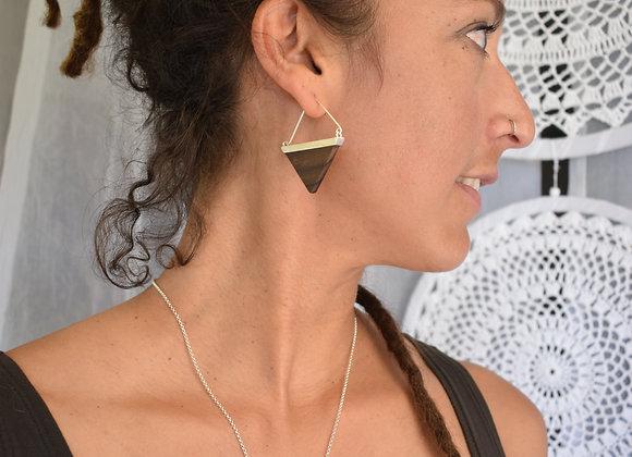 Kayu triangle necklace
