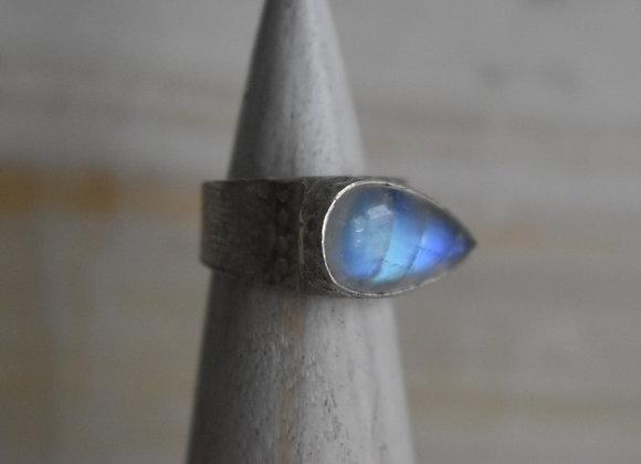 Moonstone Sideways Ring 7