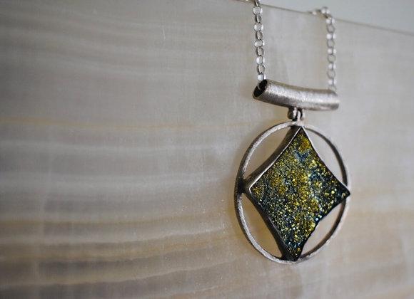 Sweet star druzy pendant
