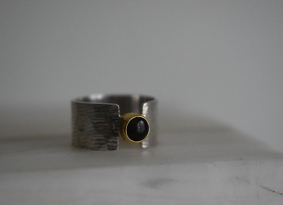 Two Toned Black Opal Ring 7
