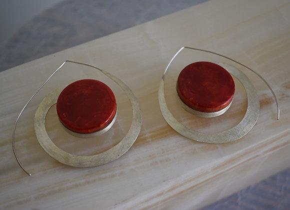 Juicy Red Spiral Earring