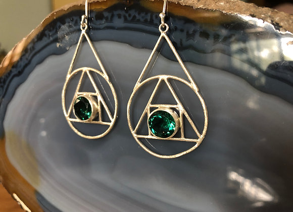 Alchemy Triangle Earring with Hook