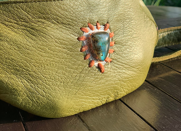 Avocado and Labrodorite hip belt