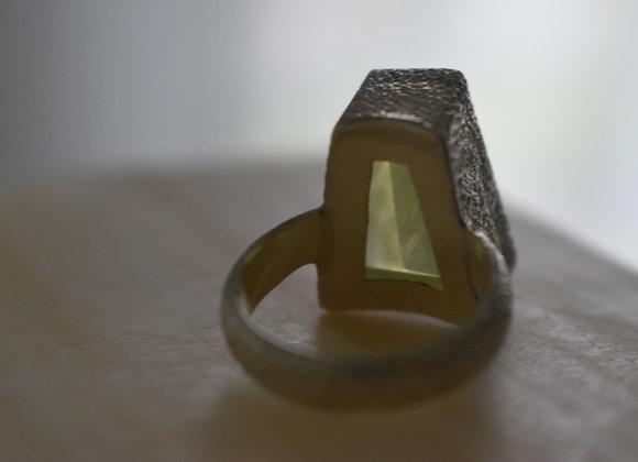 Prehnite Trapezoid Ring 8