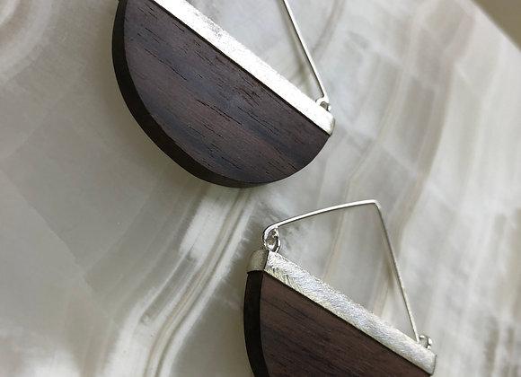 Half moon kayu earring~ Rosewood