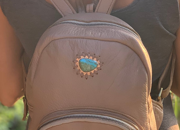 Small Backpack~ Dusty Rose w/ Turquoise