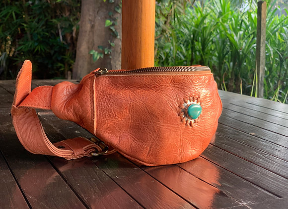Tangerine and turquoise hip belt