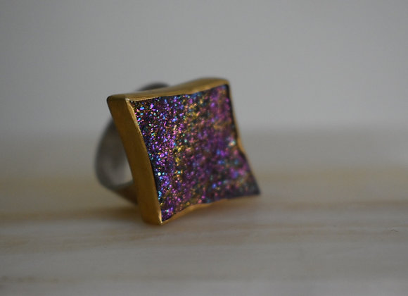 Golden Star Druzy Ring 8