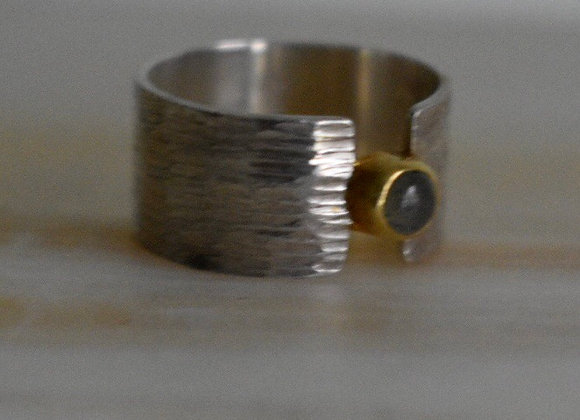 Two Toned Labrodorite Ring 7