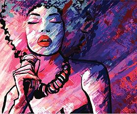 jazz-singer-with-microphone-on-grunge-ba