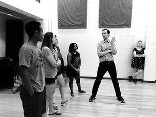 Joseph teaching intro to theatre at University of Virginia.