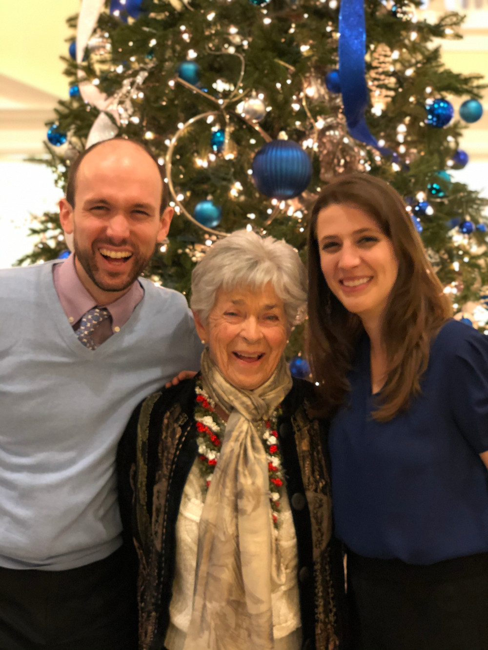 At Grammy's 90th Birthday Party in December.