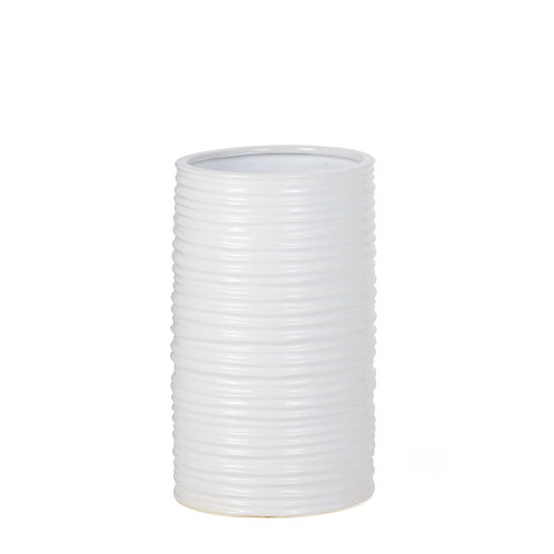 Ripple Ceramic Cylinder Vase