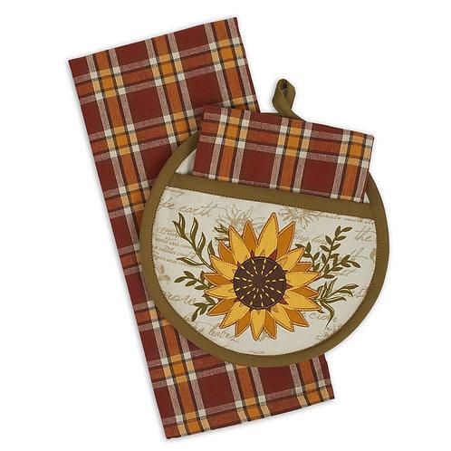Sunflower Potholder Gift Set