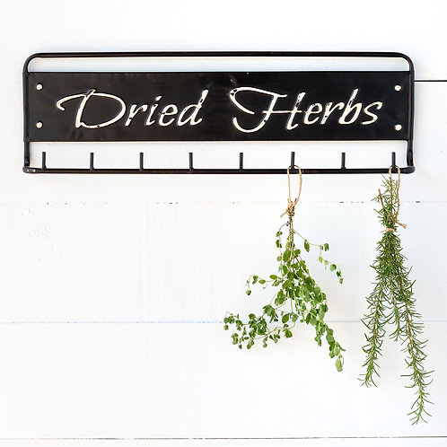 """Dried Herbs"" Metal Hanging Rack"