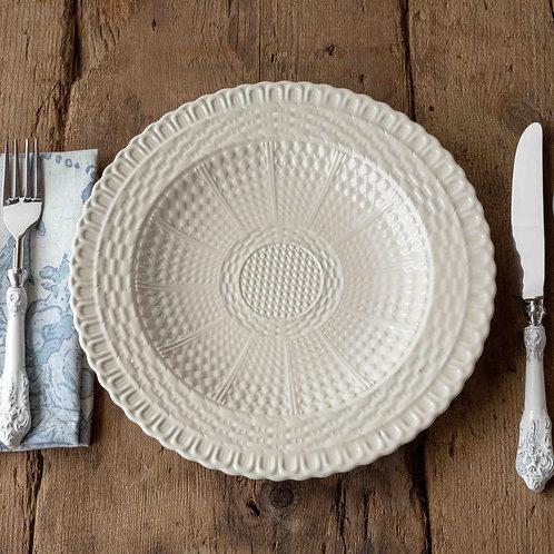 Creamware Basketweave Dinner Plate