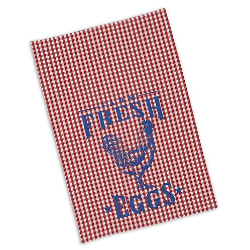 Farm Fresh Eggs Printed Dishtowel