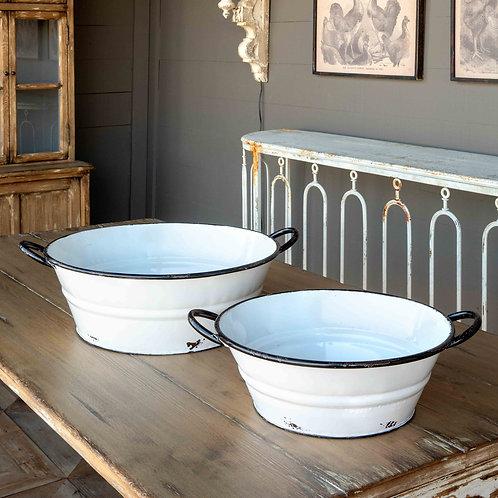 Enamel Painted Farm Tubs