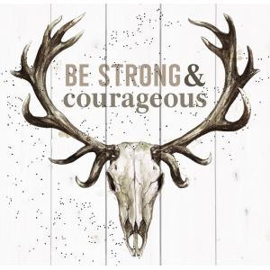 Be Strong And Courageous - Pallet Décor