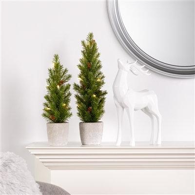 Nordic LED Mini Potted Pine Tree