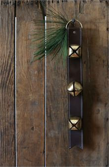 Leather Sleigh Bells Door Hanger