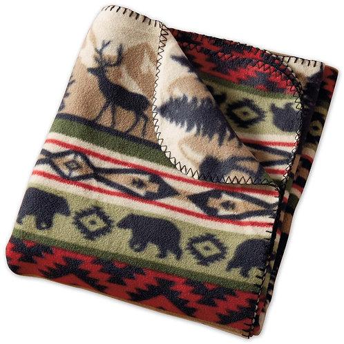 Back Country Stripe Fleece Throw