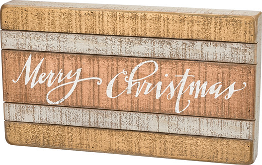 Slat Sign - Merry Christmas