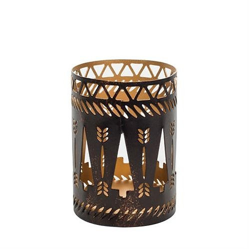 Bronze Trees Petite Candle Holder