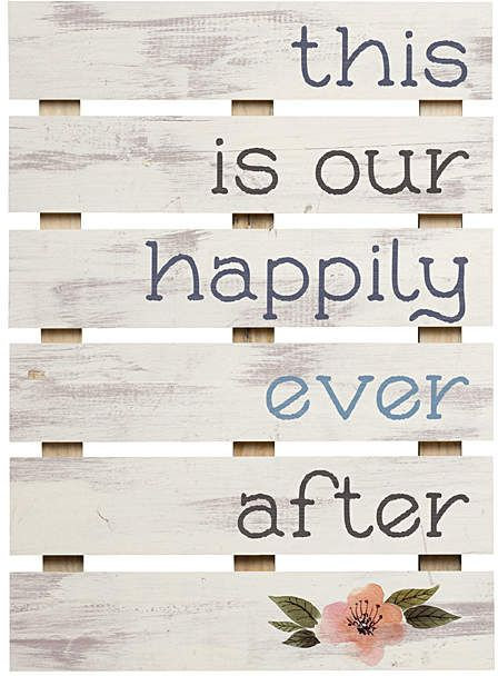 Pallet Décor This Is Our Happily Ever Afte