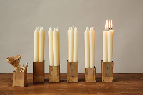 "10""H Unscented Taper Candles In Box"