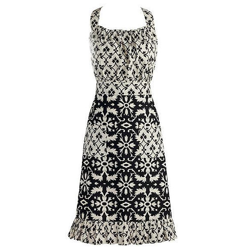 Black and White Mixed Vintage Apron