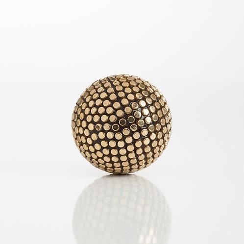 Copper Studded Decor Ball