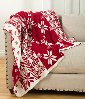Knitted Christmas Design Throw