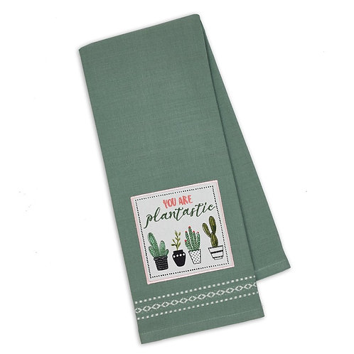 Plantastic Embellished Dishtowel