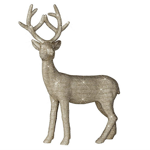 Decorative Deer w/ Gold Sparkle Finish