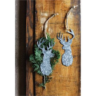 Tin Deer Head Ornament