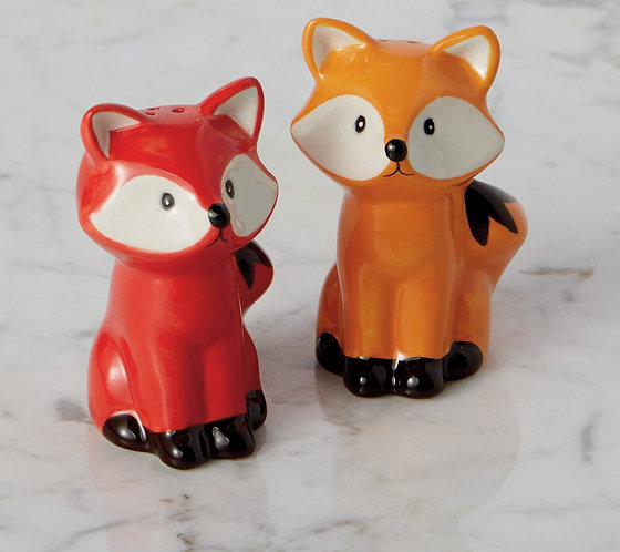 Foxes Ceramic Salt & Pepper Shakers