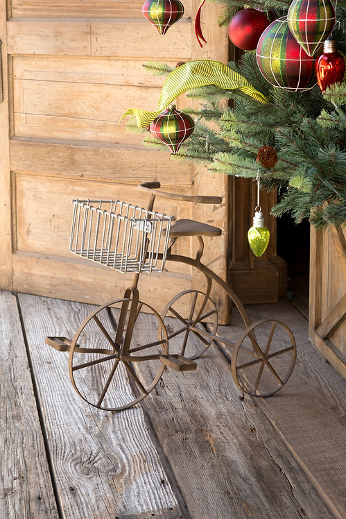 Vintage-Style Tricycle Planter